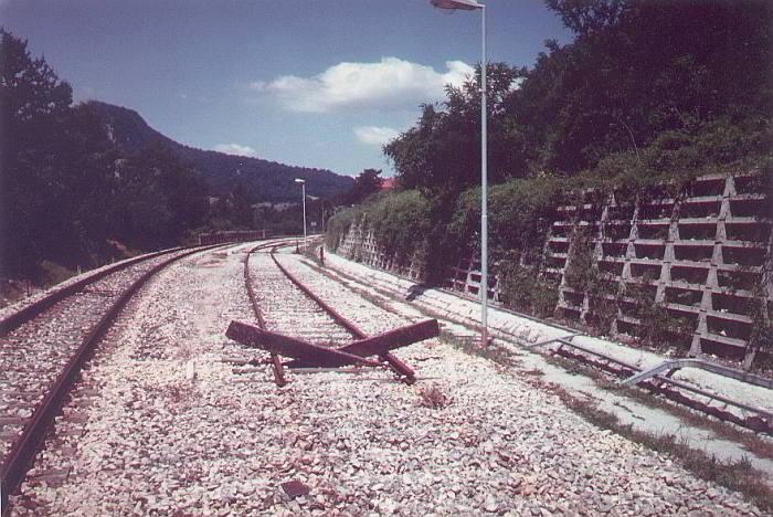 Muro di sostegno realizzato in ambito ferroviario