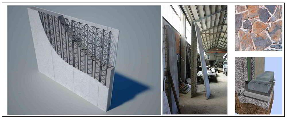 i muri bilastra sono elementi prefabbricati in On muro bilastra